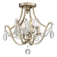 Traditional Semi-Flushmount Light Gold Regent by Quoizel Lighting