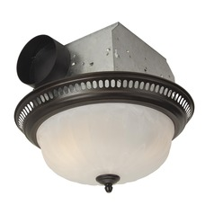 Craftmade Lighting Decorative Oil Rubbed Bronze Exhaust Fan with Light