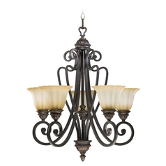 Quorum Lighting Summerset Toasted Sienna Chandelier