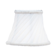 Pleated White Bell Lamp Shade with Clip-On Assembly