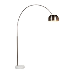 Modern Arc Lamp in Satin Nickel Finish