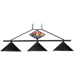 Modern Billiard Light in Matte Black Finish