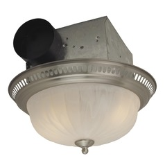 Craftmade Lighting Decorative Stainless Steel Exhaust Fan with Light