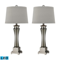 Dimond Lighting Brushed Nickel LED Table Lamp Sets with Empire Shades