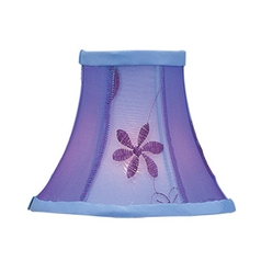 Livex Lighting S222 Violet Embroidered Floral Bell Lamp Shade with Clip-On Assembly
