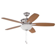 Craftmade Penbrooke Brushed Polished Nickel Ceiling Fan with Light