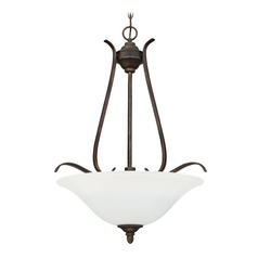 Craftmade Lighting Mckinney Burleson Bronze Pendant Light with Bowl / Dome Shade