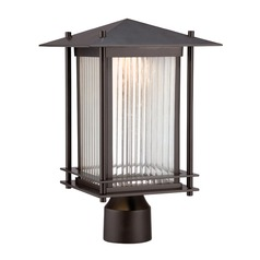 Designers Fountain Hadley Burnished Bronze LED Post Light