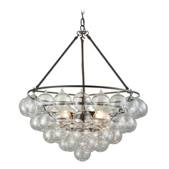 Dimond Oil Rubbed Bronze and Clear Pendant Light
