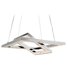 Elan Lighting Crushed Ice Chrome LED Chandelier