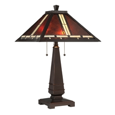 Lite Source Lighting Crimson Dark Bronze Table Lamp with Square Shade
