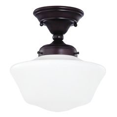 Design Classics Lighting 10-Inch Bronze Schoolhouse Ceiling Light FAS-220 / GA10