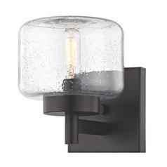 Industrial Seeded Glass Sconce Bronze