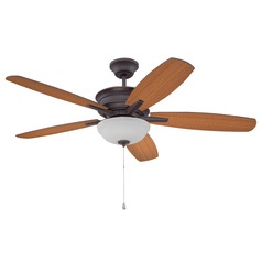 Ellington Penbrooke Oiled Bronze Gilded Ceiling Fan with Light