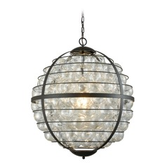 Dimond Skorpius Oil Rubbed Bronze and Clear Pendant Light