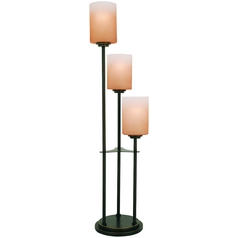 Lite Source Lighting Bess Dark Bronze Table Lamp with Rectangle Shade