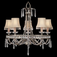 Fine Art Lamps Winter Palace Antiqued Silver Crystal Chandelier