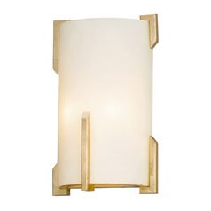 Troy Lighting Quantum Gold Leaf Sconce