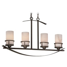 Quoizel Lighting Kyle Iron Gate Island Light with Cylindrical Shade
