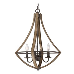 Lodge / Rustic / Cabin Pendant Light Black Shire by Quoizel Lighting