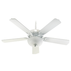 Quorum Lighting Capri Iii White Ceiling Fan with Light