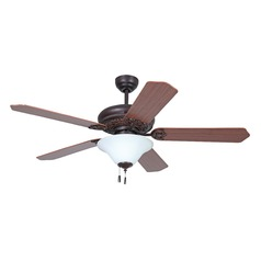 Ellington Manor Oiled Bronze Gilded Ceiling Fan with Light