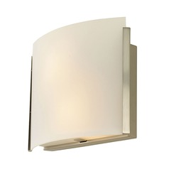 Alico Lighting Pannelli Arc Satin Nickel Sconce