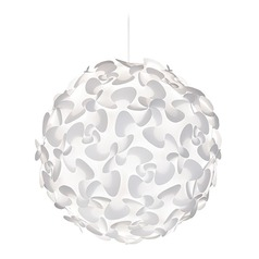 UMAGE White Pendant Light with Globe Shade