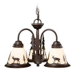 Bryce Burnished Bronze Mini-Chandelier by Vaxcel Lighting