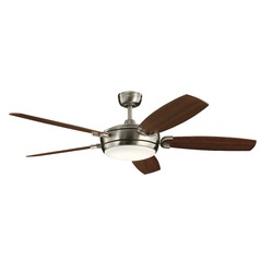 60-Inch 5 Blade LED Ceiling Fan with Light Brushed Stainless Steel by Kichler Lighting
