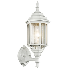 Kichler Outdoor Wall Light with Clear Glass in White Finish