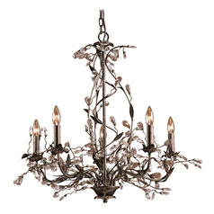 Elk Lighting Chandelier in Deep Rust Finish 8054/5