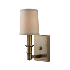 Sconce Wall Light in Brushed Antique Brass Finish