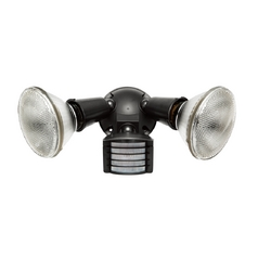 Motion-Activated Security Light in Bronze Finish - 300W