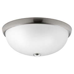 Progress Lighting Progress Lighting Random Brushed Nickel Flushmount Light P3804-09WB