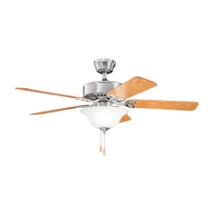Kichler Lighting Renew Select Brushed Stainless Steel Ceiling Fan with Light