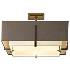 Hubbardton Forge Lighting Exos Dark Smoke Semi-Flushmount Light
