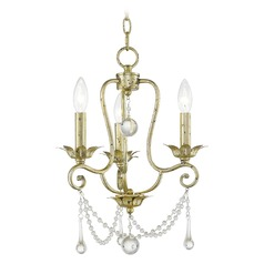 Livex Lighting Sophia Hand Applied Winter Gold Mini-Chandelier