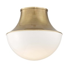 Hudson Valley Lighting Lettie Aged Brass LED Flushmount Light