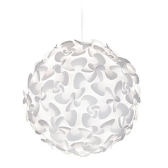 UMAGE White Plug-In Swag Pendant Light with Globe Shade