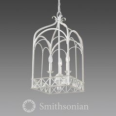 Smithsonian�Gateway 3 Light Pendant in French White