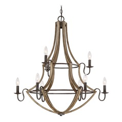 Lodge / Rustic / Cabin Chandelier Black Shire by Quoizel Lighting