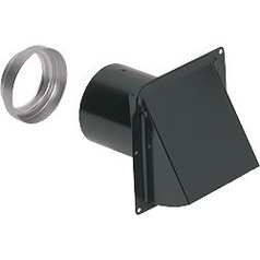 NuTone Wall Cap for Exhaust Fans UN 885BL