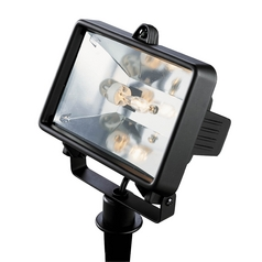 Progress Flood / Spot Light with Clear Glass in Black Finish