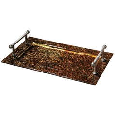 Uttermost Elektra Copper Glass Tray