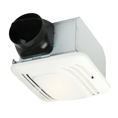 Craftmade Lighting Fresh Air Series Designer White Exhaust Fan with Light