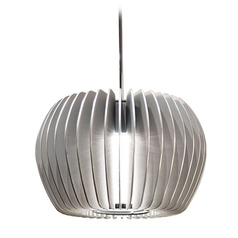 WAC Lighting Industrial Collection Chrome LED Mini-Pendant with Drum Shade