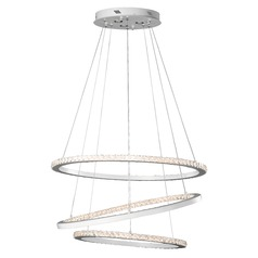 Elan Lighting Allos Flat White LED Chandelier