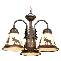 Yellowstone Burnished Bronze Mini-Chandelier by Vaxcel Lighting