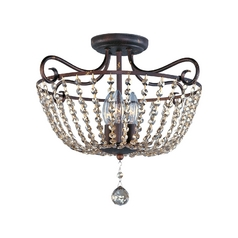 Maxim Lighting Adriana Urban Rustic Semi-Flushmount Light
